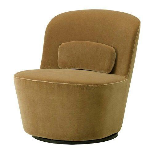 Ikea Stockholm Swivel Easy Chair Sandbacka Dark Beige