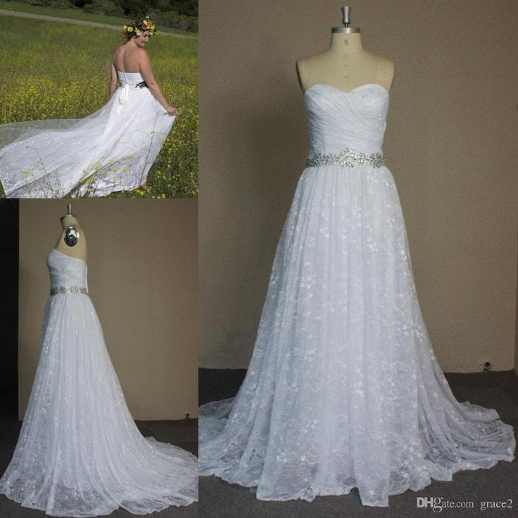 Wholesale unique wedding gowns, vintage wedding dresses for sale and wedding dress online shop on DHgate.com are fashion and cheap. The well-made white chantilly lace wedding dresses 2018 strapless sweetheart gathered ballgown sexy bridal gowns custom vestido de noiva full length sold by grace2 is waiting for your attention.