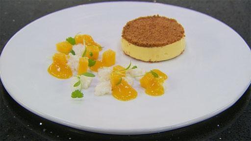 Mango Cheesecake with Coconut Tapioca