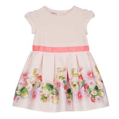 Baker by Ted Baker Babies light pink floral border dress- at Debenhams.com