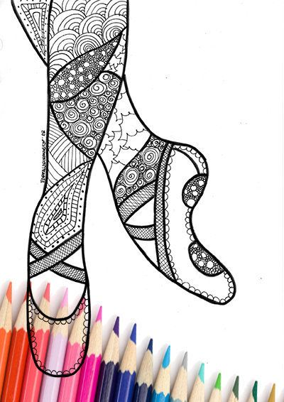 Dance Shoes Artistic Gymnastics Coloring Page Dance Adult And Uh 5