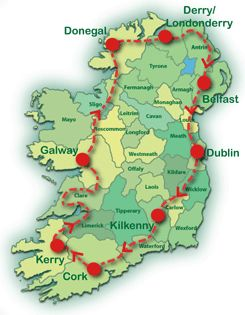 15 days in Ireland. Self-drive tour.