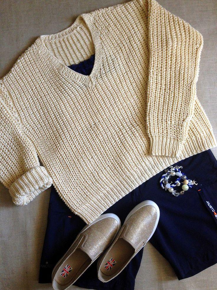 Свитер хлопок/меринос.Полупатентная резинка #свитер_спицами #свитер_спортивный #свитер_оверсайз #оверсайз #свитер_на_заказ#########