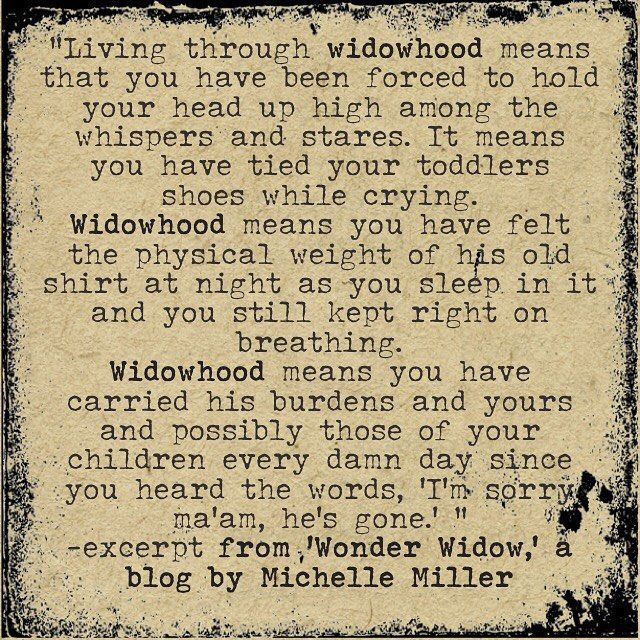 Michelle Miller widow quote, widowed life, young widow
