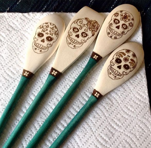 cool awesome Custom Wood Burned Sugar Skull Spoons, The Ladies, Series 3 (IJKL), Dia ... by http://www.top-100-homedecorpictures.us/home-decor-accessories/awesome-custom-wood-burned-sugar-skull-spoons-the-ladies-series-3-ijkl-dia/