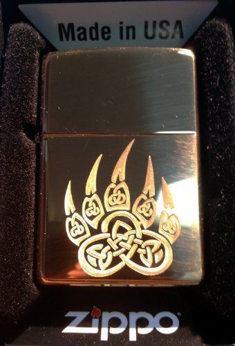 Zippo Custom Lighter - Celtic Knot Weave Irish Bear PAW Print High Polish Brass - Buy Online in UAE. | Health and Beauty Products in the UAE - See Prices, Reviews and Free Delivery in Dubai, Abu Dhabi, Sharjah - Desertcart UAE