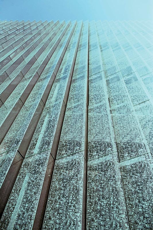 Amazing facade of the Museum of the History of Polish Jews in Warsaw, photo: press release. See more on www.culture.pl