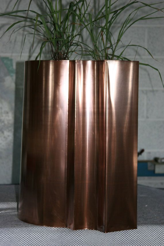 Bronze copper indoor planter by CoppercraftDesign on Etsy, €890.00
