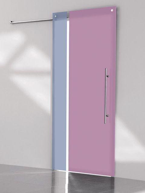 Puerta corredera de cristal Casali SystemZero Bicolor Vertical Avio-Cipria de Maydisa. www.maydisa.com