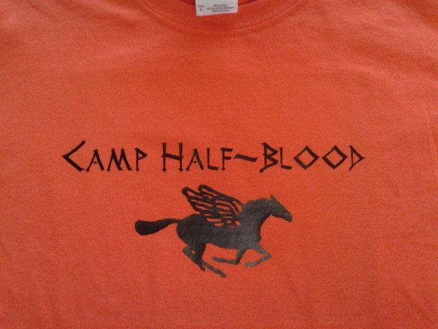 Camp Half-Blood shirt - Child XS - Large. $18.00, via Etsy.