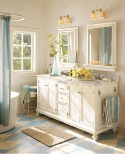 bathroom like the colors - trying for a shabby chic beach inspired bathroom