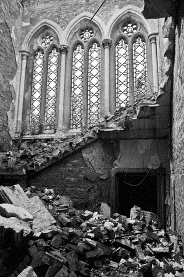 руины Hafodunos Hall