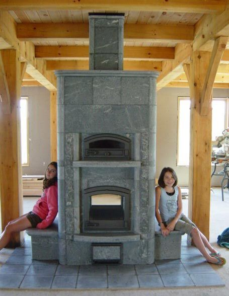 Tulikivi soapstone fireplace - very efficient radiant heat - on the wishlist http://www.mountainflame.com