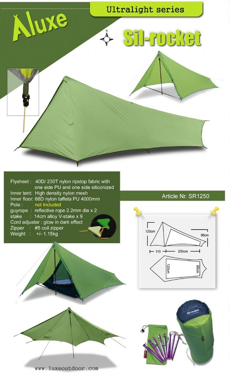 Luxe outdoor ultralight tarp tent