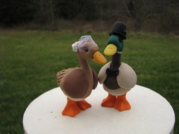 Mallard Duck Wedding Cake Toppers