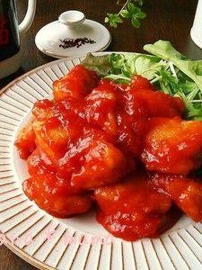 鶏むね肉で♪ピリ辛旨々~鶏チリ♪ :  とろ~りピリ辛♪ご飯が何杯でも進む海老チリならぬ鶏チリです(*´艸`)♪ 海老は下処理が結構大変ですが鶏ならお手軽♪しかもずっとお安くボリューミーです♪ ポイントは豆板醤とケチャップをしっかり炒めること!酸味が飛んでコクが出ます♪  | しゃなママ