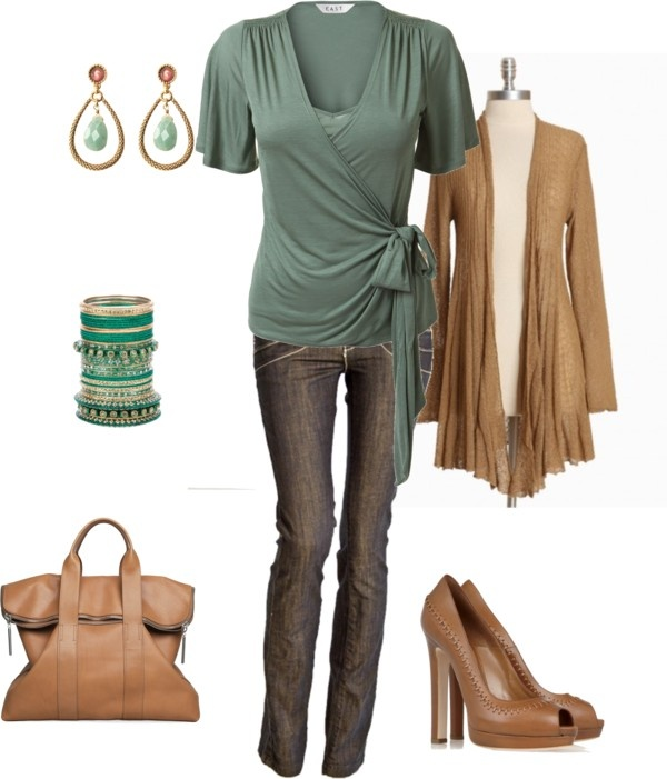 """wrap around top"" by yiannab on Polyvore"