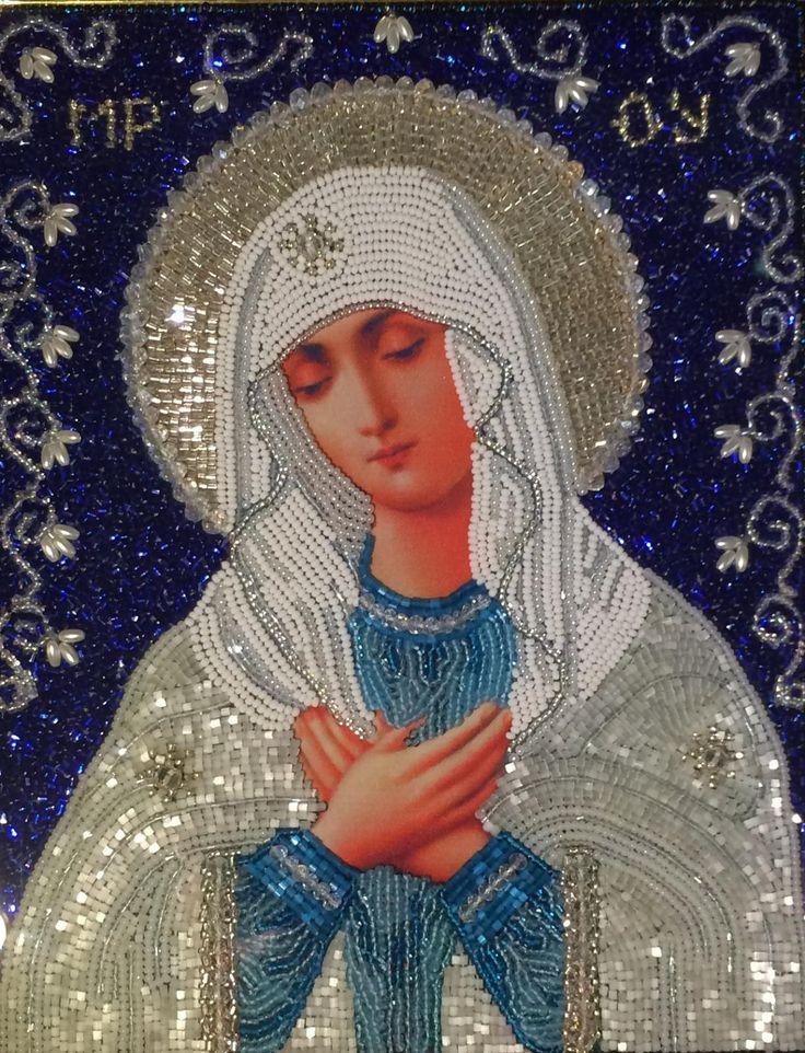 Икона Пресвятой Богородицы Умиление   biser.info - всё о бисере и бисерном творчестве