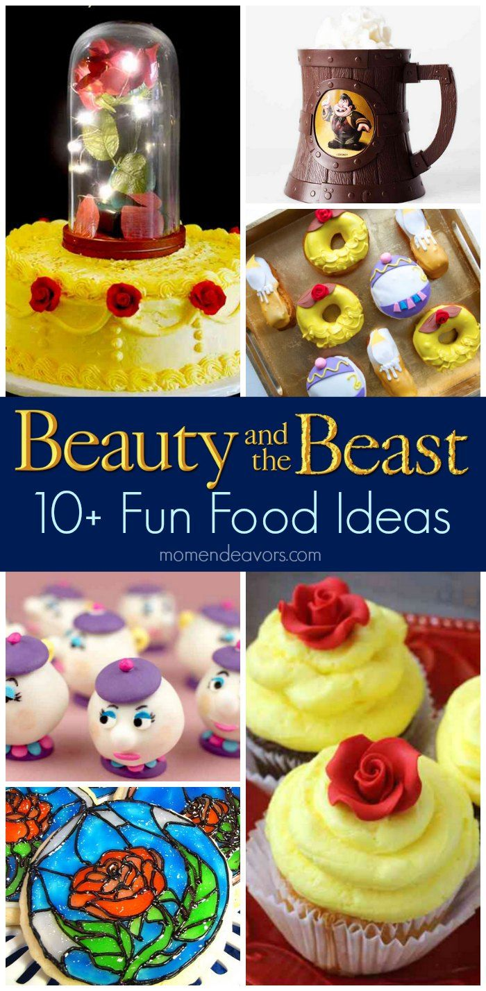 10+ Beauty & the Beast Fun Food Ideas - Perfect for a movie night or Beauty & the Beast party!