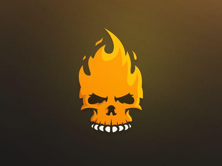 Fire Skull Logo on Behance
