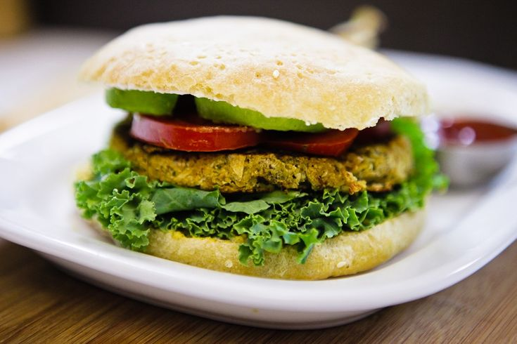 Savory Sage & Flower Burgers with Baked Potato Chips » Keepin' It Kind