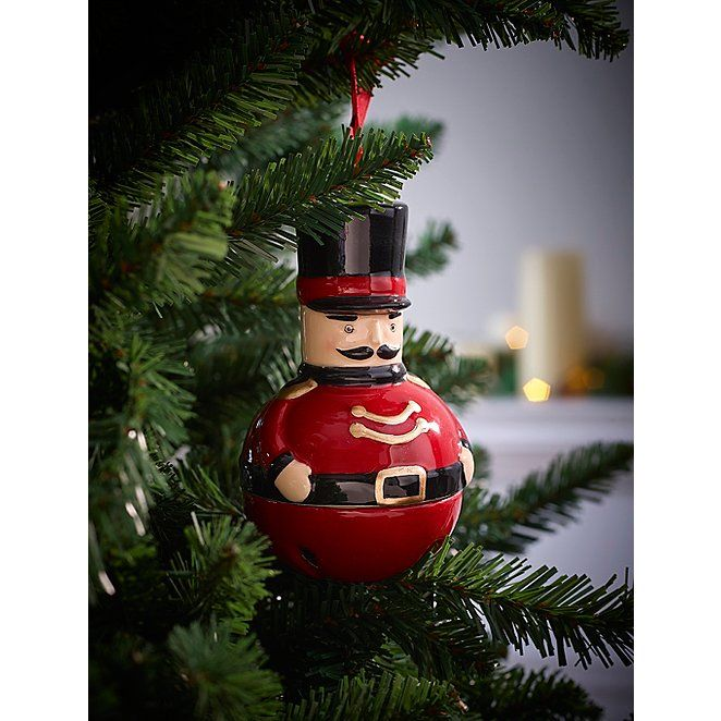 Red Round Nutcracker Christmas Tree Bauble Christmas George Nutcracker Christmas Decorations Nutcracker Christmas Tree Nutcracker Christmas