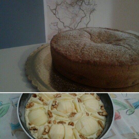 Torta mele e noci...