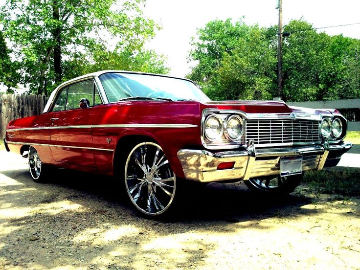 I would definitely call this a DREAM ride!!! This will ALWAYS remind me of my Father.  He built his own 64' when I was a little girl, and now I have a love for them! <3 Candy apple red Chevy 64 Impala <3