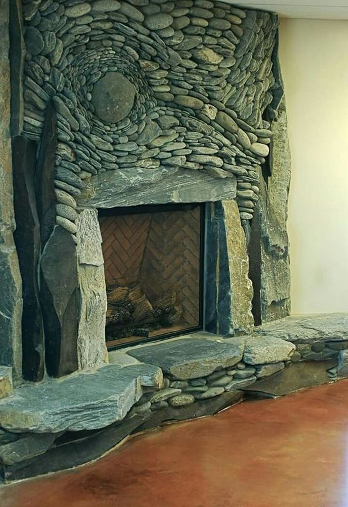 29 Wonderful Natural Stone Hearth 21 In 2020 Hearth Natural Stones Fireplace Design