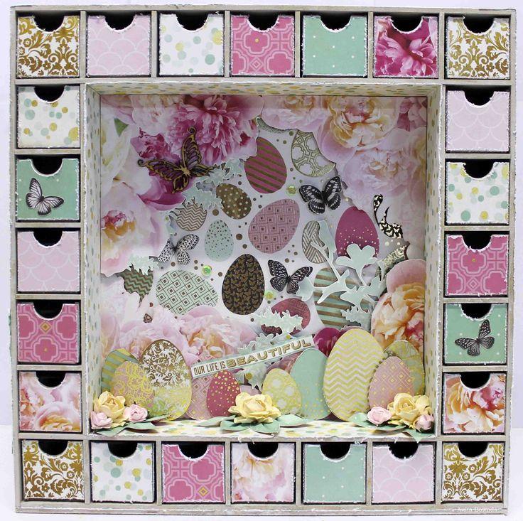 Easter Advent Calendar - Anita Bownds for #kaisercraft #allthatglitters