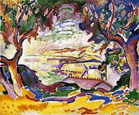 GEORGES BRAQUE - L'Estaque (1906)  Huile sur toile (59 x 72)