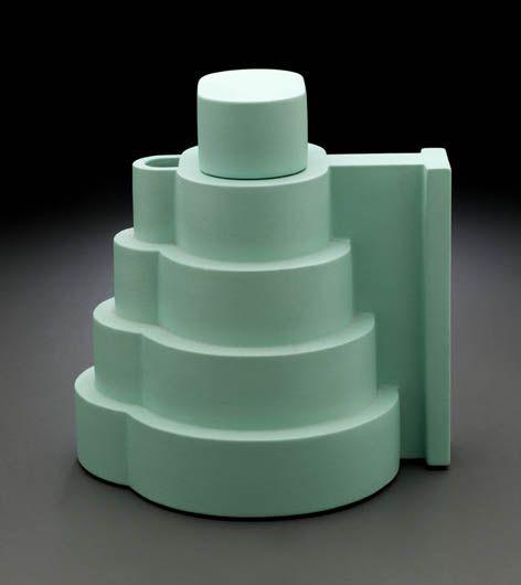 "Ettore Sottsass Lapislazzuli Teapot From the series ""Indian Memory"". From the Italian Memphis design movement."