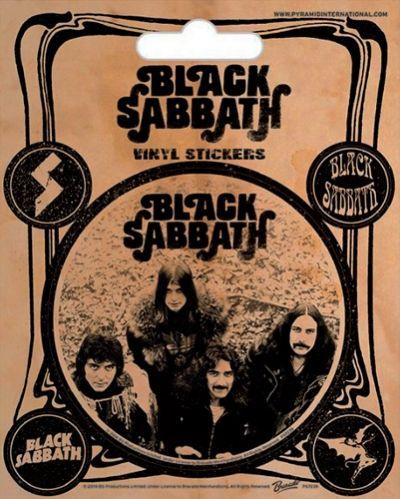 Pack de 5 Stickers BLACK SABBATH - Vintage