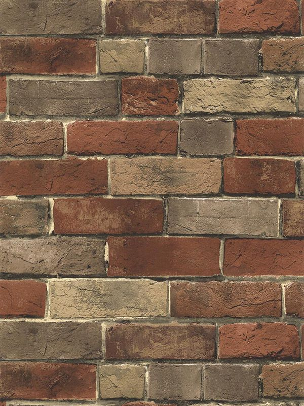 x19gsewg Wallpaper Brick wallpaper, Faux brick wallpaper