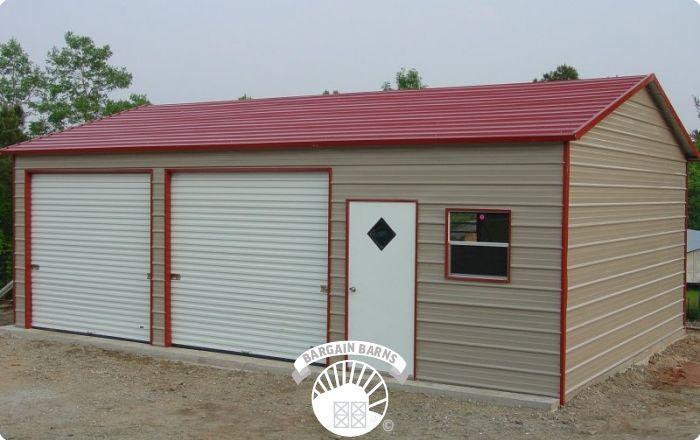 2 Bay Metal Garages Metal Garages Garages Custom Garages