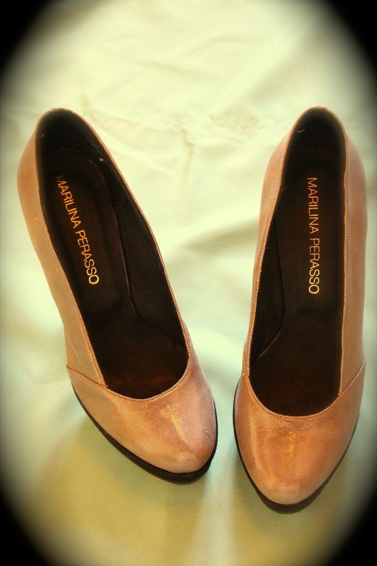 Zapatos punta redonda -Marilina Perasso-