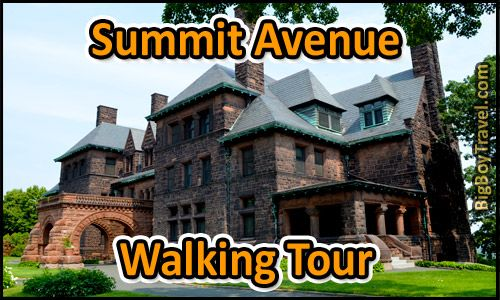 Free Summit Avenue walking tour in Saint Paul Minnesota with printable map. This do it yourself guided tour covers the best mansions and top things to see on Summit Avenue Hill in St Paul Minnesota.