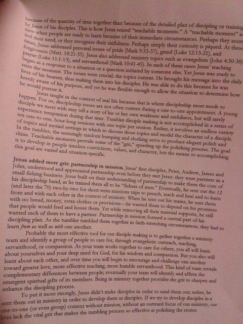 Notes on Jesus' disciple making p2
