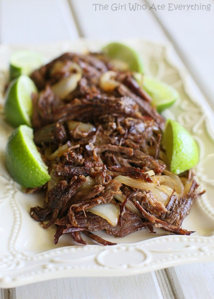 Cuban Shredded Beef - tender meat with a crispy outside. {The Girl Who Ate Everything}