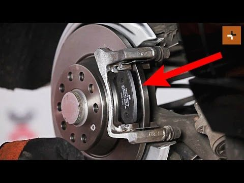how to replace rear brake discs and rear brake pads on vw passat cc 1 tu automotive. Black Bedroom Furniture Sets. Home Design Ideas