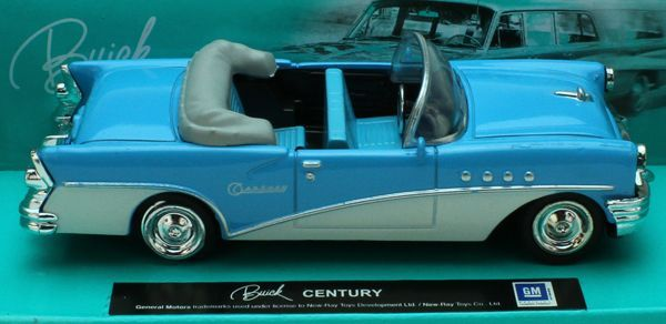 1:43 Scale Die-Cast Blue/White Buick Century Convertible