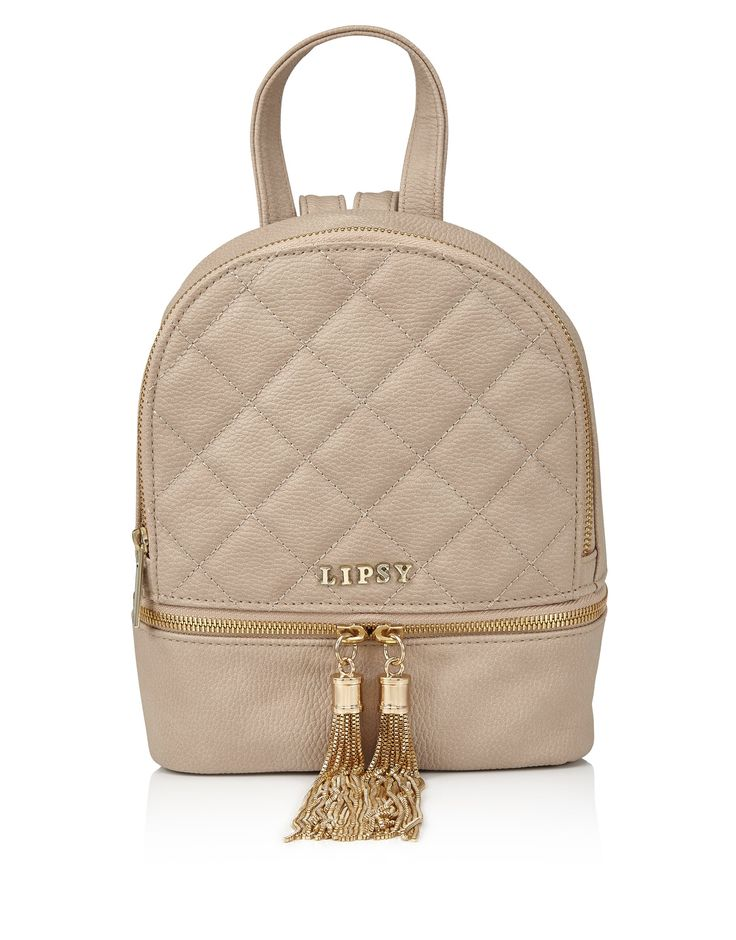 Lipsy Womens Mini Quilted Backpack Cream One Size