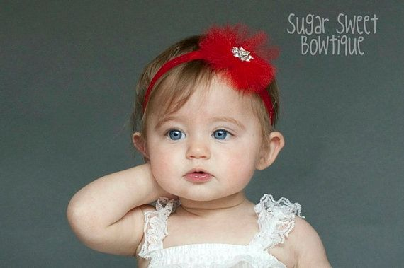 Red Tutu Couture Boutique Headband   by sugarsweetbowtique on Etsy, $10.00