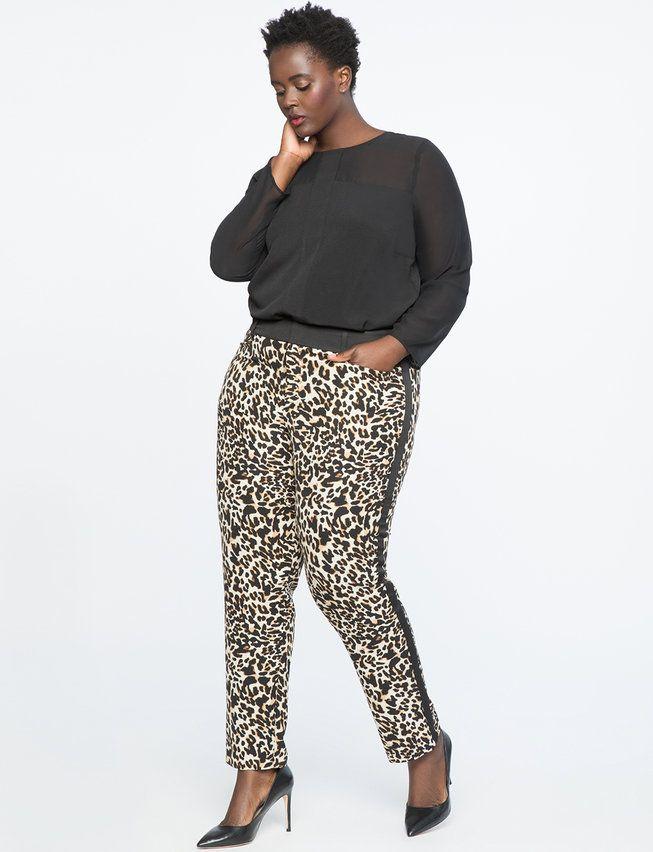 e86f5576819 Leopard Kady Fit Pant