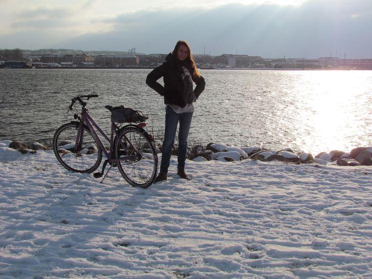 First ray of sun in Denmark