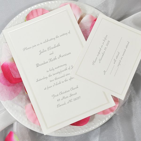 ivory printable wedding invitation kit set of 50 cathys concepts in02 - Cheap Wedding Invitations Packs
