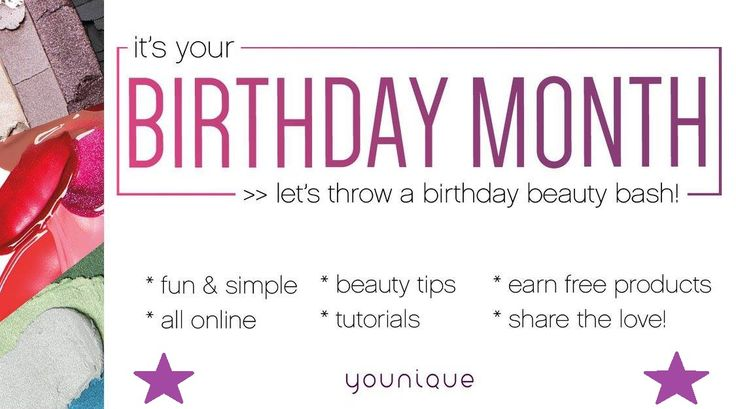 It's your birthday month (or pretend birthday month) host a beauty bash today and get free makeup and skin care! Ask me how www.mistysglamparty.com