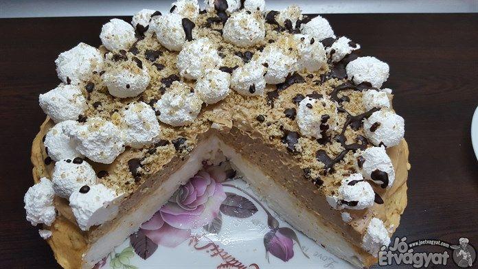 Nutella és dió.Fantasztikus párosítás.Néhány egyszerű hozzávaló segítségével tortát készítünk velük.Tetejét díszíthetjük tejszínhabbal és csokireszelékkel.