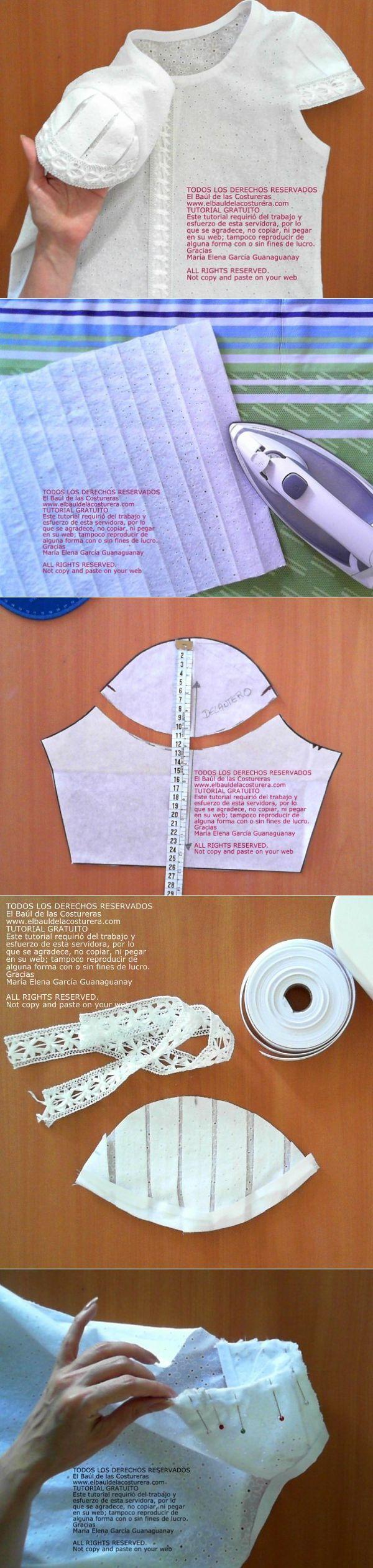 manguito plisada (Bricolaje) / Los patrones simples / SECOND STREET
