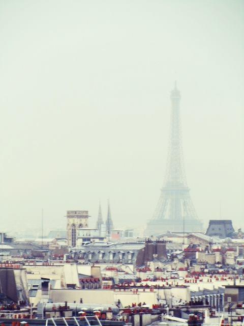 Eiffel Tower in the mist, Paris